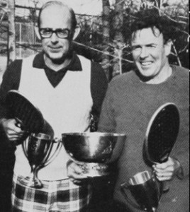 1978 Men's 50+ Senior Nationals winners, Bob Brown and George Reynolds
