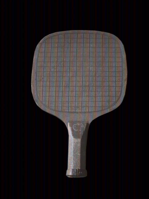 Standard paddle used by Jean Eaton in winning Women's Doubles and Singles in 1935