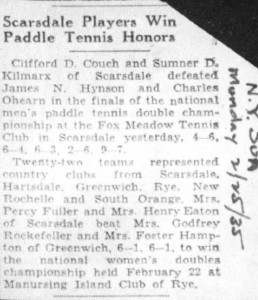 New York Sun reports on the first National Championships