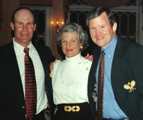 Rich Maier, Buffy Briggs and Steve Baird after their induction ceremony