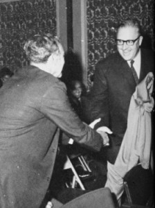 Pardoebeing congratulated by Dick Hebard at the Honor Award ceremony in 1969