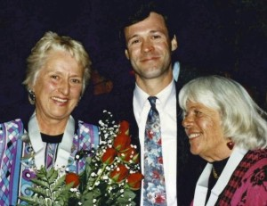 Lucie Bel McAvoy, Tim McAvoy (son) and Nancy Mangan (left to right)