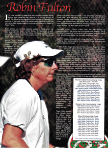 Player profile from Platform Tennis Magazine, Vol. 3 ,Issue 3, January 2002