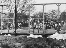 In the 1950 Men's Nationals, Cliff Sutter and Sidney Wood (right) defeated Addison Wilson and Gordon Sanford