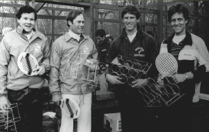 1982 Men's Nationals (left to right): Steve Baird and Rich Maier (winners) with Bob Kleinert and Doug Russell (finalists)