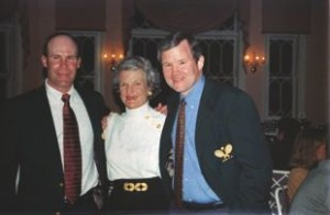 Rich Maier, Buffy Briggs, and Steve Baird at the induction ceremony