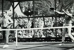 Bob Kingsbury (right) and John Mangan at Fox Meadow in 1975