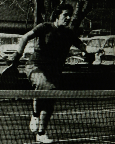 Madge Childress Beck on the court at Fox Meadow